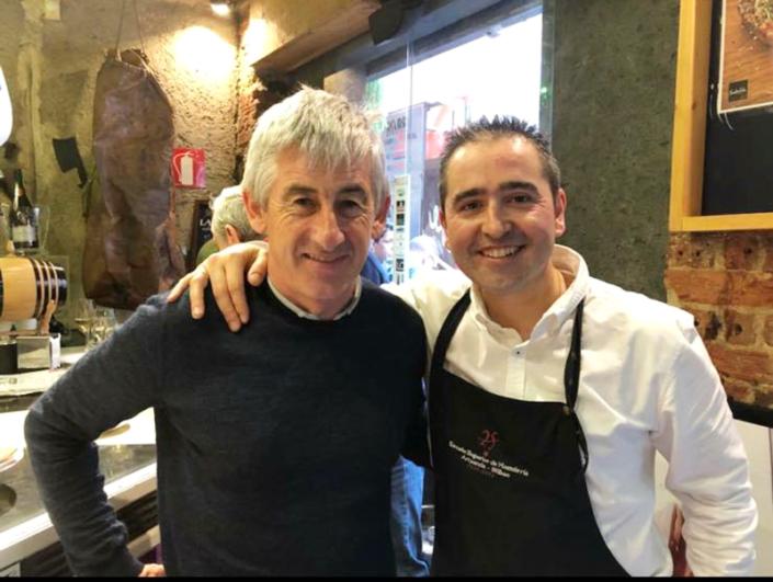 Marino Lejarrreta con Andoni