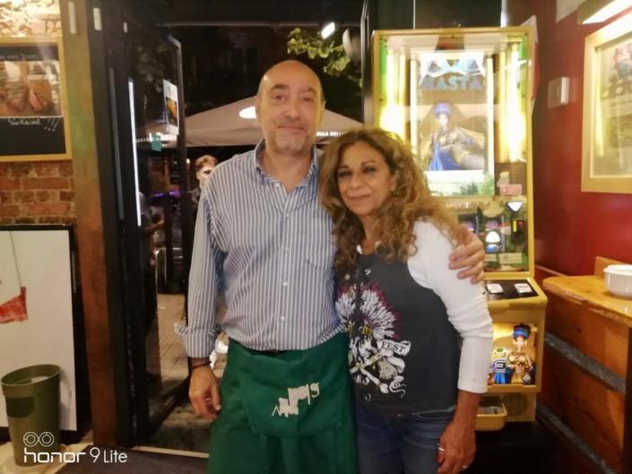Lolita Flores en Restaurante Sukalde con Gabriel Cuende